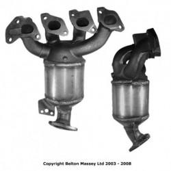 Catalyseur pour CITROEN XSARA 1.4 jusqu'au n° de chassis 08147 (embout arrière arrondi (jonction conique))