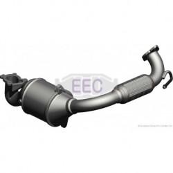 Catalyseur pour Ford Fusion 1.4 TDCi Hayon 67cv 8v (véhicule Diesel) Moteur : F6JA - F6JB