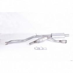 Catalyseur pour Peugeot 206 CC 2.0 Cabriolet 138cv 16v (véhicule Essence) Moteur : RFN(EW10J4)