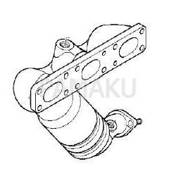 Catalyseur pour BMW 525i 2.5i M54 E60 9/03-2/05