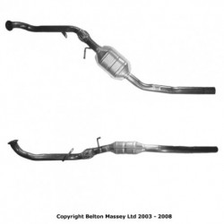 Catalyseur pour MERCEDES A170 1.7 W168 (moteur : OM 668.940 - 942) CDi Catalyseur situé sous le véhicule