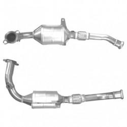 Catalyseur pour PEUGEOT 206 1.6 catalyseur situé sous le véhicule
