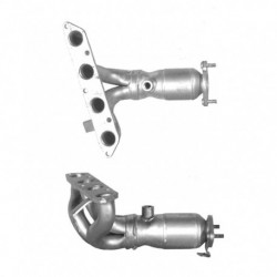 Catalyseur pour SAAB 9000 2.3 16v Catalyseur et tuyau avant sont séparés