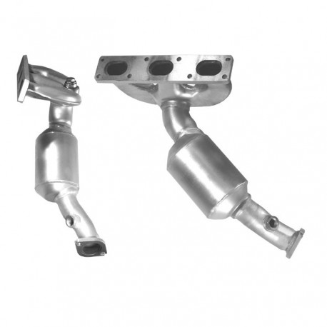 Catalyseur pour BMW 320i 2.0 E46 Touring (moteur : M52 - catalyseur collecteur cylindres 4-6)