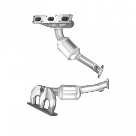 Catalyseur pour BMW 325i 2.5 E46 véhicule avec volant à gauche (moteur : M54 - cylindres 4-6)