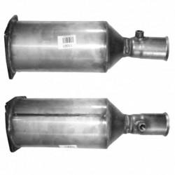 Filtre à particules (FAP) pour CITROEN C5 2.2 Mk.2 HDi (moteur : 4HX (moteur : DW12TED4))