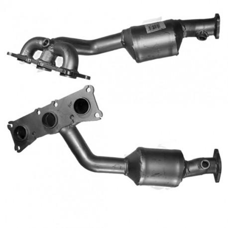 Catalyseur pour BMW 330i 3.0 E92 (moteur : N52 - catalyseur collecteur cylindres 4-6) pour véhicules avec volant à droite