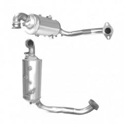 Filtre à particules (FAP) pour FORD FOCUS 1.6 Mk.2 TDCi (moteur : G8DC - MTDA - version sans additif - Euro 4)