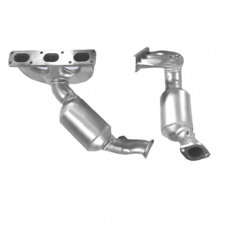 Catalyseur pour BMW 520i 2.0 E39 (moteur : M52 - catalyseur collecteur cylindres 4-6)