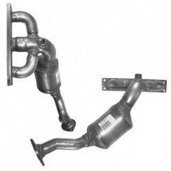 Catalyseur pour BMW 520i 2.2 E60 Berline (M54 - cylindres 4-6 - pour véhicules avec volant à gauche)
