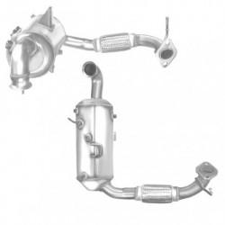 Filtre à particules (FAP) pour FORD TOURNEO COURIER 1.6 TDCi (moteur : T3CA - T3CB - T3 CC) catalyseur et FAP combinés