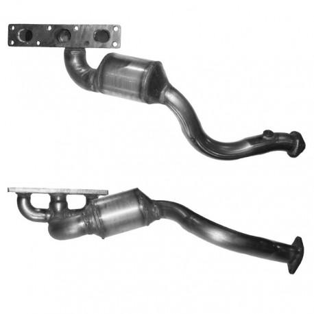 Catalyseur pour BMW 530i 3.0 E39 Touring (moteur : M54 - cylindres 1-3 - pour véhicules avec volant à gauche)