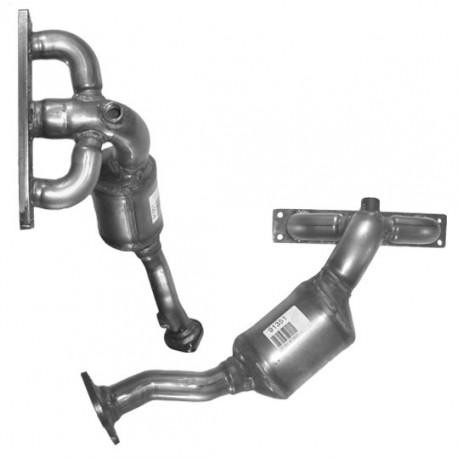 Catalyseur pour BMW 730i 3.0 E65 (moteur : M54 - cylindres 4-6 - pour véhicules avec volant à gauche)