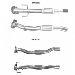 Tuyau d'échappement pour FIAT FIORINO 1.3 MJTD (moteur : 199A2.000)