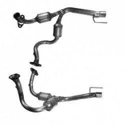 Catalyseur pour CHRYSLER GRAND CHEROKEE 4.7 V8 (moteur : EVC) tuyau flexible et catalyseur