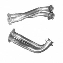 Tuyau d'échappement pour MERCEDES 230CE 2.3 C123 (moteur : M102.980) Coupe (pour véhicules sans FAP)